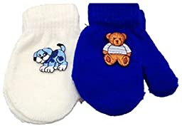 Set of Two Pairs One Size Magic Mittens for Ages 3-12 Months