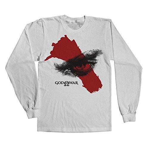 Officially Licensed Merchandise God Of War - Eye Long Sleeve Tee (White), Large