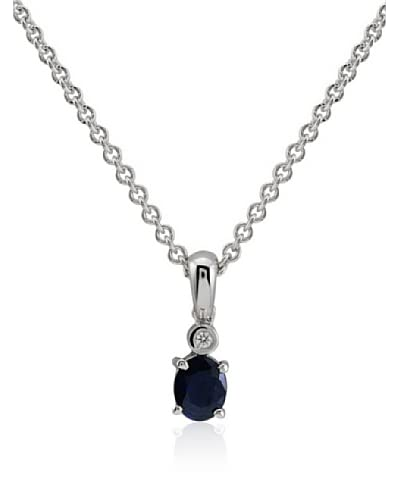 Divas Diamond Set catenina e pendente Diamond Sapphire Argento