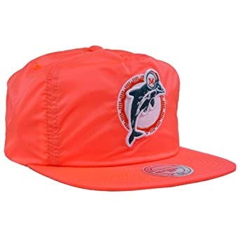 Mitchell Ness NFL Miami Dolphins Neon Bright 80s Snapback by Mitchell & Ness