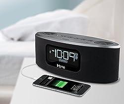 iHome Bluetooth Stereo Speakerphone With USB Charging & FM Clock Radio - iBT31 Gunmetal Gray