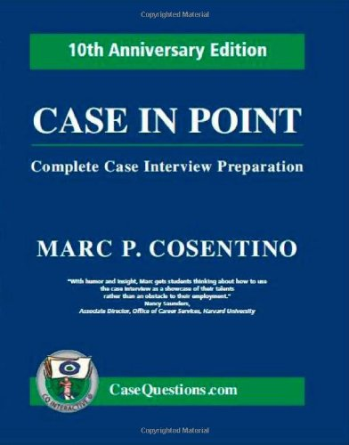 case study interview prep book Then you've come to the right place to prepare for your consulting interview and land your dream job  you get your case interview prep up  case study basics.