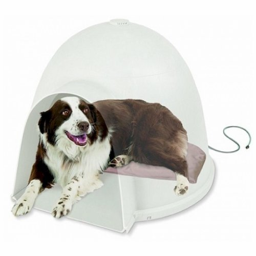 K & H Thermo Regulating Indoor Or Outdoors Use Igloo Style Soft Heated Bed - Large