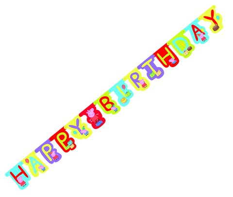 Peppa Pig Happy Birthday Room Banner 180cm x