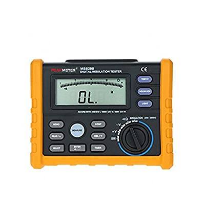 Protech High Precision MS5205 Digital Insulation Resistance Meter Tester Multimeter Megohm Meter 0.01-100G ohm