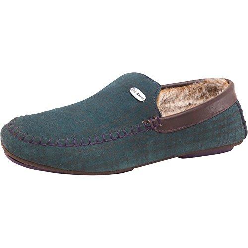 worldwide-clothing-zapatillas-de-estar-por-casa-de-piel-para-hombre-color-verde-talla-43