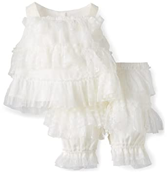 Biscotti Baby-girls Infant Lace Embrace Top And Bloomer, Ivory, 24 Months