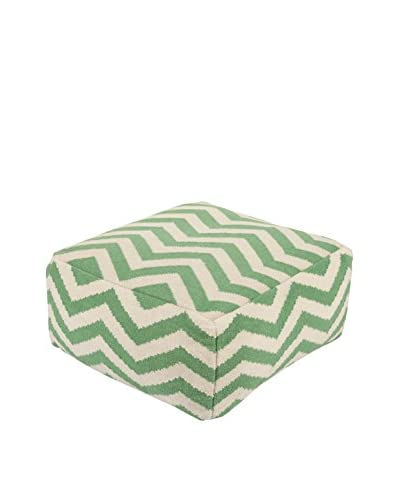 Surya Frontier Pouf, Green