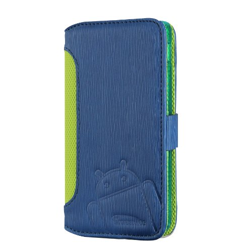Nexus 5 Case, Cruzerlite Bugdroid Circuit Intelligent Wallet Flip Case Compatible for LG Nexus 5 - Blue/Green (Nexus 5 Light Blue Wallet Case compare prices)
