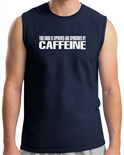 This Mood Is Approved And Sponsored By Caffeine Sleeveless T-Shirt 2Xl Navy front-612388