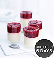 4 Raspberry Panna Cotta