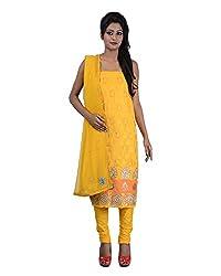Mumtaz Sons Women's Cotton Unstitched Dress Material (MS111407D,Yellow)