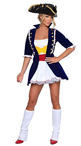 GALHAM - Sexy Fashion Revolutionary Adult Deluxe Fancy George Washington Costume
