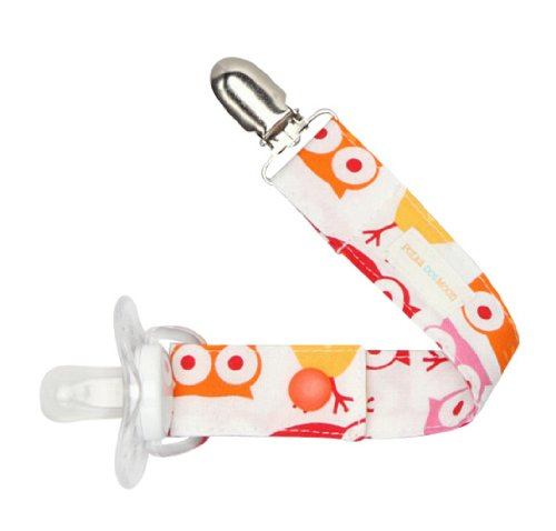 Girls Pacifier Clip in Owls - 1