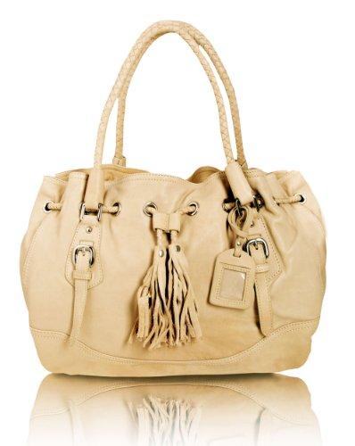 BOVARI Sand/Creme Braiden XL Bag Handtasche