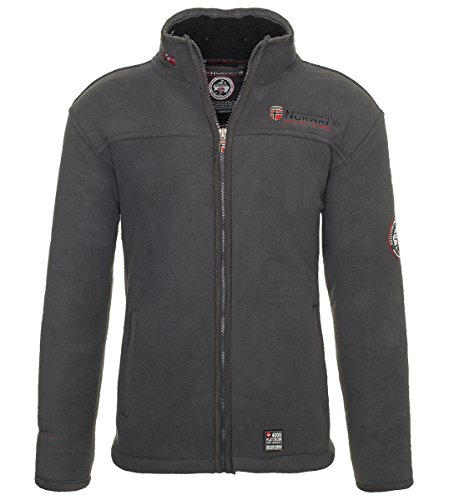 Geographical Norway Herren Fleece Jacke warme Sweatjacke Winter Sweater