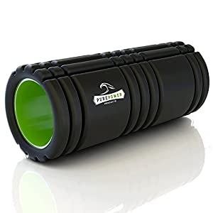Foam Roller Best for Yoga, Runners or Pilates to Increase Muscle Recovery & Trigger Point Relief from Pure Power Products Offer Grid Technology, Light ABS i-Core Inside, *FREE* Ebook Instruction Guide and Eco Friendly EVA. Get It Now and Roll In Style!