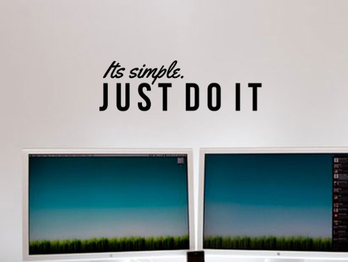 Just Do It Nike Inspirational Wall Decal Quote