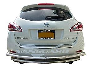 VANGUARD 2009-2014 Nissan Murano Rear Bumper Guard Double Layer S/S