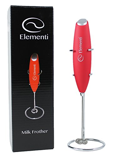 Elementi Premier Milk Frother with Stand | More Powerful High Torque 15,000 RPM Motor