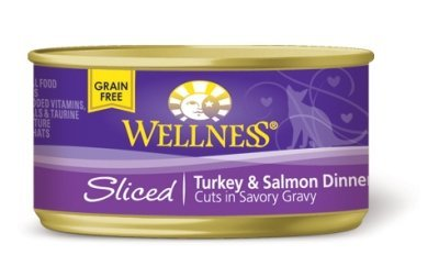 Wellpet, Llc - Wellness Cat Dinner Sliced Turkey/Salmon Case 24/3Oz