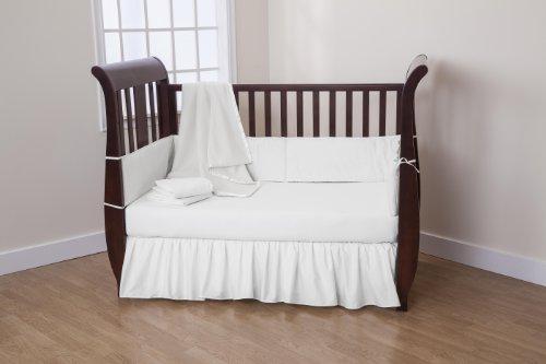 White Crib Bedding Set front-35819