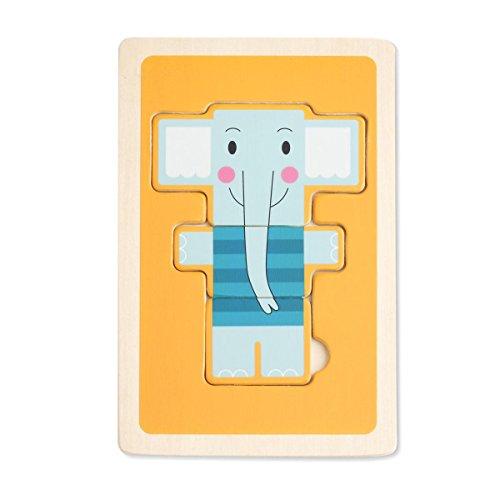 DEMDACO 3 Piece Puzzle, Tucker Elephant
