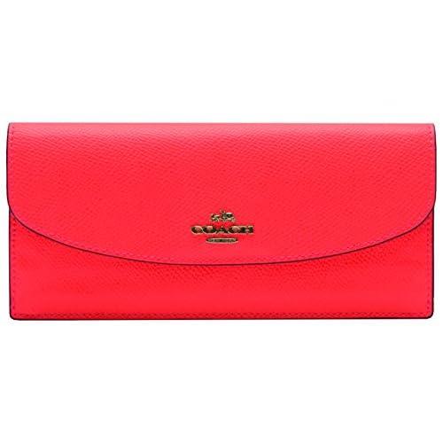 (コーチ) COACH 財布 サイフ 二つ折り長財布 ネオンピンク レザー PVC f52864svbce アウトレット ブランド 並行輸入品