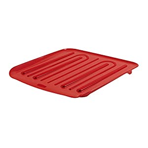 Rubbermaid 1180-MA-RED Antimicrobial Small Drain Board, Red