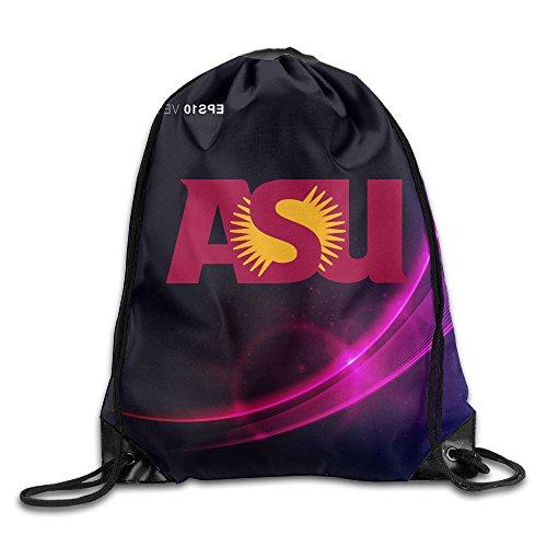 SAXON13 Unisex Lovely Arizona State University Logo Drawstring Travel Bag