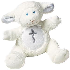 Mary Meyer Christening Plush Rattle, Lamb by Mary Meyer