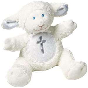 Mary Meyer Christening Plush Rattle, Lamb
