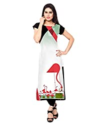 Saiveera Fashion New Arrival Women's Crepe Long Kurtis (VAT158_MultiColoured_Xlarge)