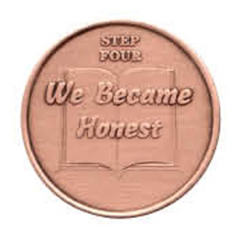 Step 4 Copper Commemorative AA (Alcoholics Anonymous) - Sober / Sobriety / Recovery / Medallion / Coin / Chip