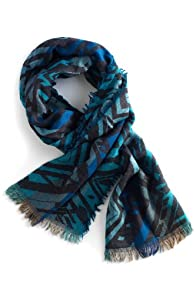 Fair Trade Wool Rafa Scarf (Blue)