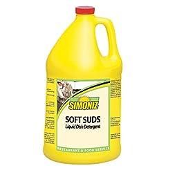 Simoniz S3350004 Soft Suds Liquid Soap for Hand Dishwashing, 1 gal Bottles per Case (Pack of 4)
