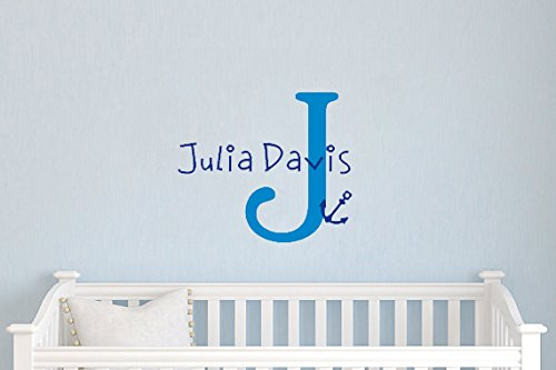 Yyone ® Initial Letter Julia Davis Personalized Name Kid'S Room Wall Art