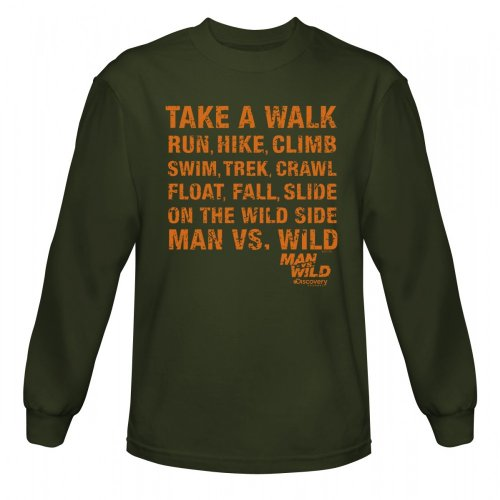 Man vs. Wild Take a Walk Long Sleeve T-Shirt