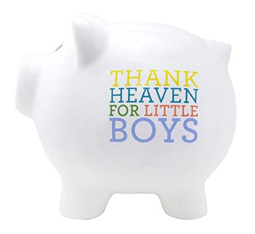 Thank Heaven for Little Boys Childrens Piggy Savings Bank