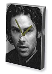 AIDAN TURNER - Canvas Clock (A4 - Signed by the Artist) #js002