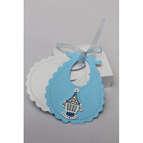 deko cut babyl tzchen blau wei 10erset mit 5 faltschachteln p ckchen. Black Bedroom Furniture Sets. Home Design Ideas