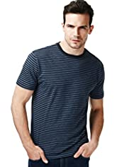 North Coast Pure Cotton Fine Striped T-Shirt