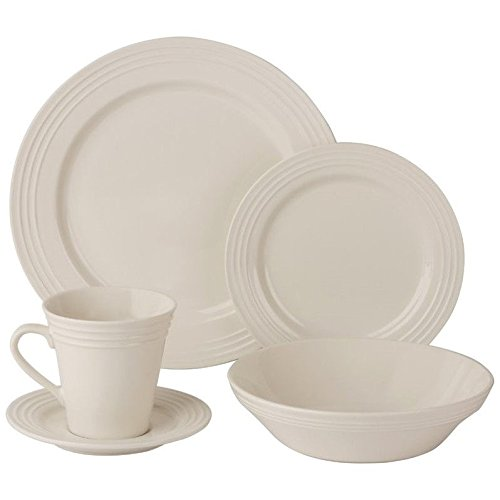 10 Strawberry Street Atlas 20 Piece Dinnerware Set in Cream White (Cream Dinnerware Set compare prices)
