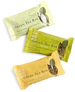 SEN CHA Green Tea Bar Variety Pack (Delicate Pear, Lively Lemongrass & Original), 2-Ounce Bars (Pack of 9)