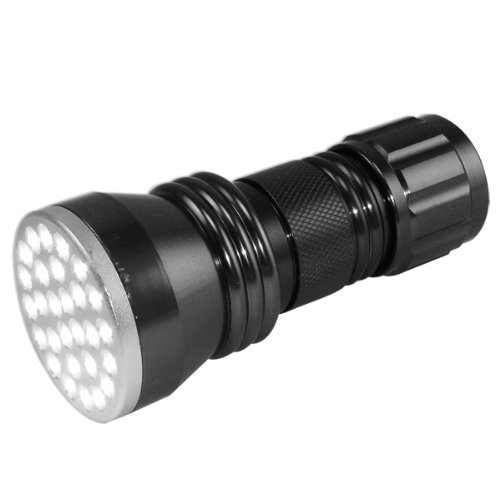 Neiko Super-Bright 28-LED Aluminum Flashlight, Gunmetal Silver