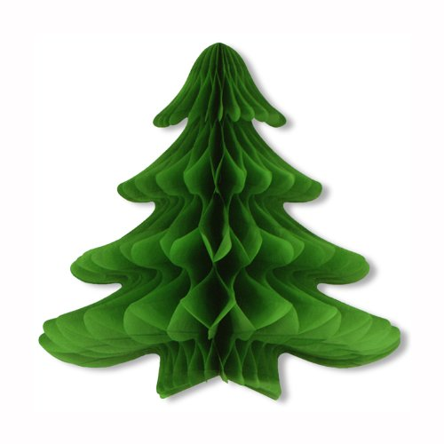 Tissue Hanging Christmas Tree Party Accessory (1 count) (1/Pkg)