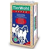 24Kg TierWohl Super Pferdeeinstreu Boxen Einstreu Weichholz Granulat