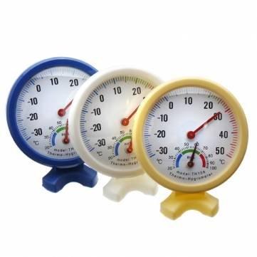 Pakhuis Intérieur Extérieur humide hygromètre Humidité Thermomètre compteur - White
