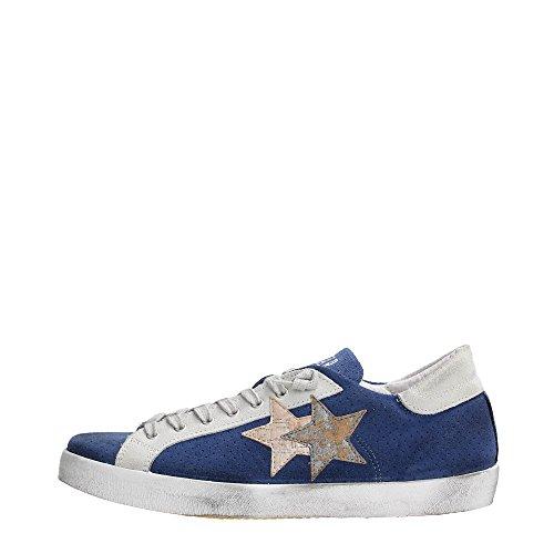 2 Star 2SU1009 Sneakers Uomo Scamosciato Blu / Ghiaccio Blu / Ghiaccio 42