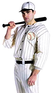 Old Tyme Baseball Player Costume - One Size - Chest Size 42-48
